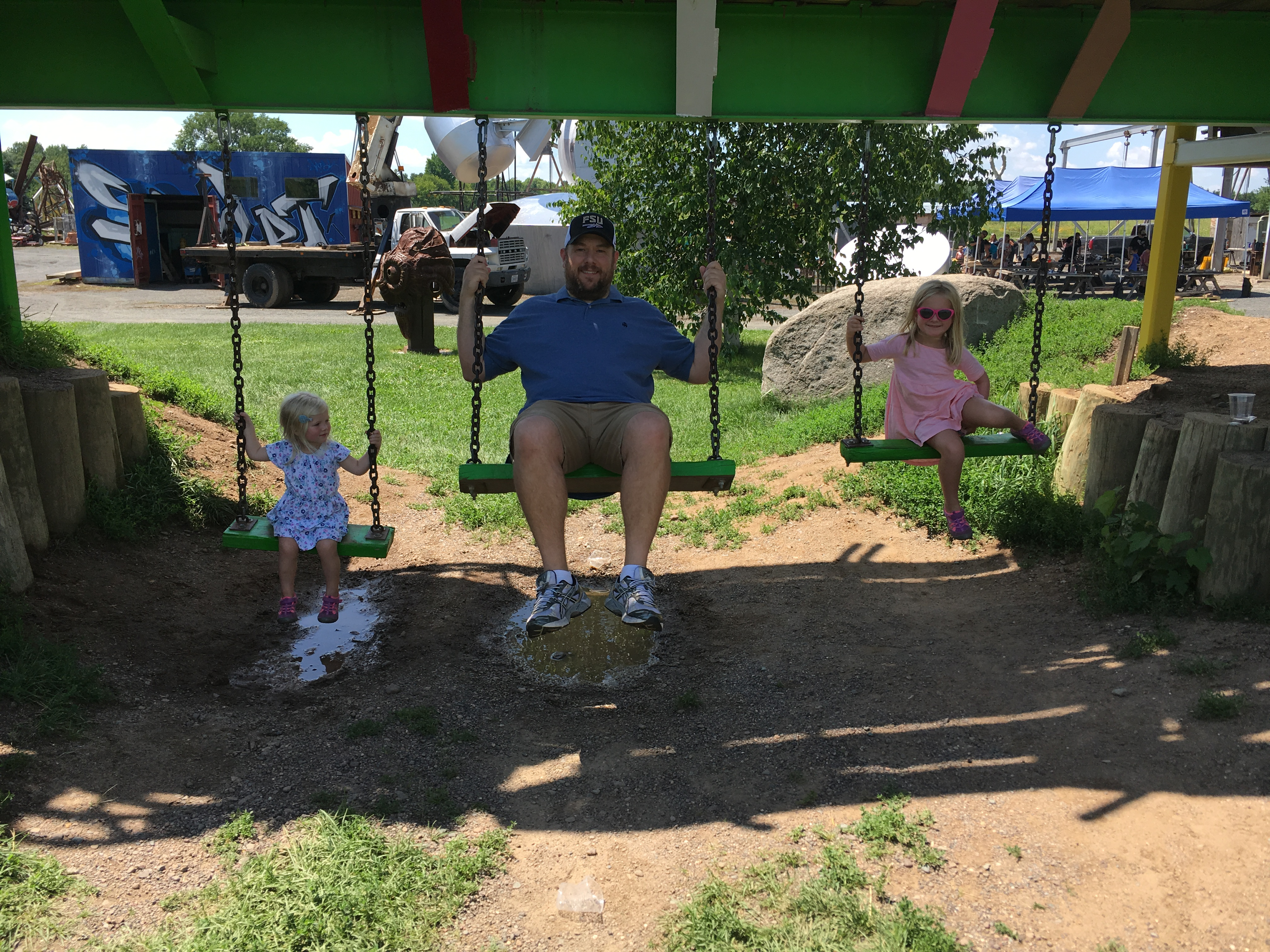 swinging with daddy
