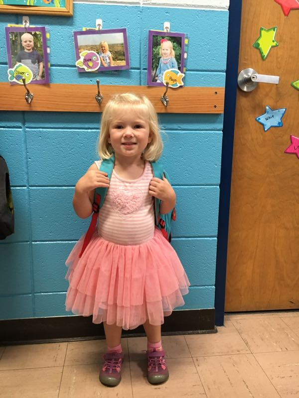olivia's first day of school