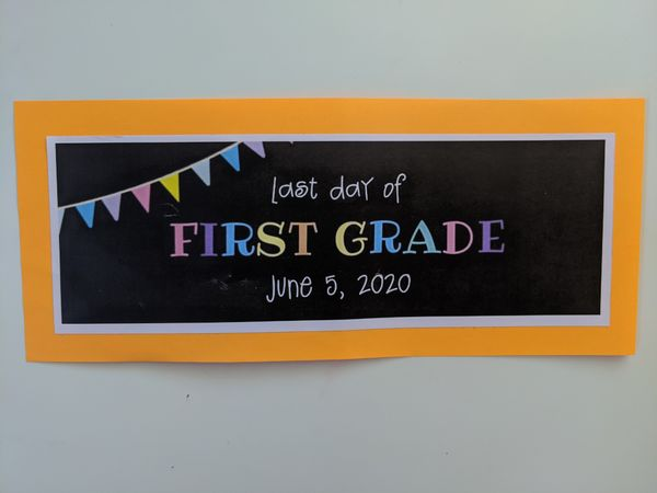 last day of 1st grade!